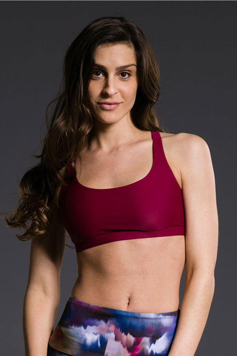 Onzie Chic Bra - Burgundy - Sculptique