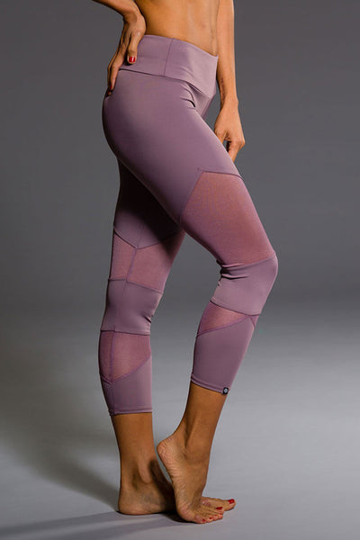 Onzie Cut Out Capri - Purple Haze - Sculptique