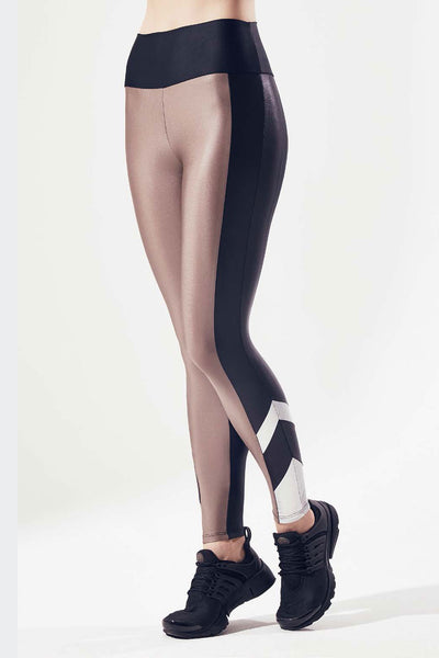 Lanston Cyrus Metallic Block Legging - Sculptique
