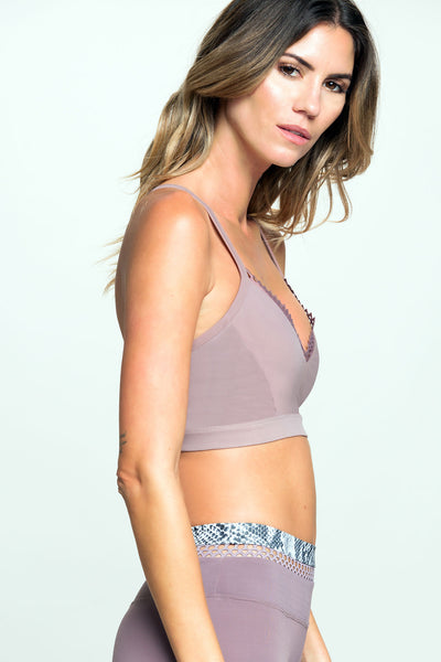 Track & Bliss Daydream Sports Bra - Rose Taupe - Sculptique