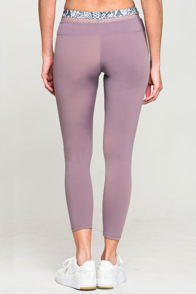 Track & Bliss Daydream 7/8 Legging - Rose Taupe - Sculptique