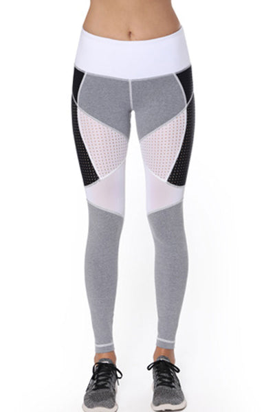 Diligence Legging - Heather Grey/White