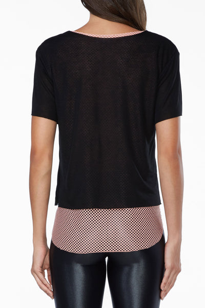 Double Layer Tee - Black/Cameo