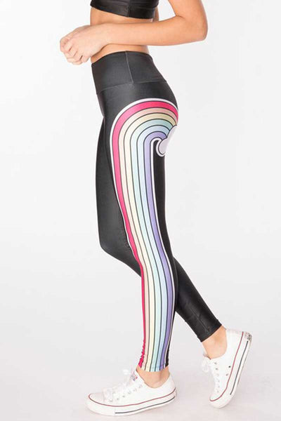 Double Rainbow Long Legging - Black