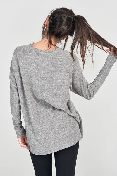 Joah Brown For Keeps V Neck - Grey Hacci - Sculptique