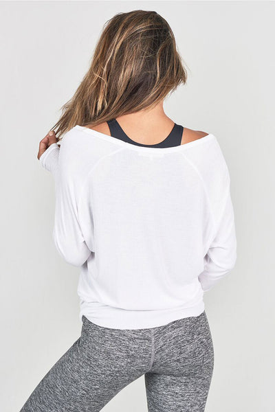 Joah Brown For Keeps V Neck - White Rib - Sculptique