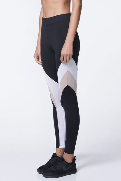 Frame Legging - Black/Bisque
