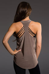 Onzie Glossy Flow Tank - Champagne - Sculptique