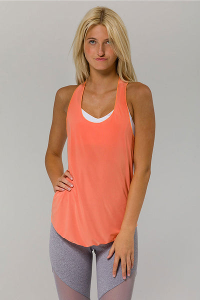 Glossy Flow Tank - Peach Pink