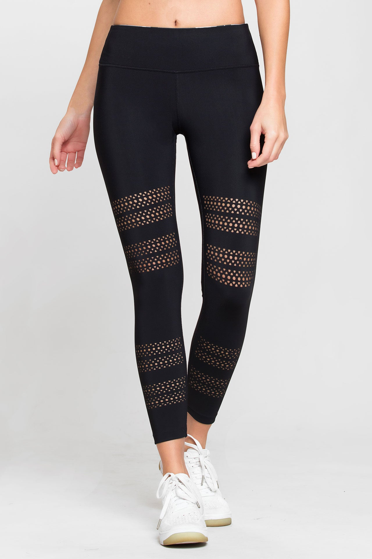Go With The Flow Leggings in Black. - size M (also in L,S,XS) Track & Bliss