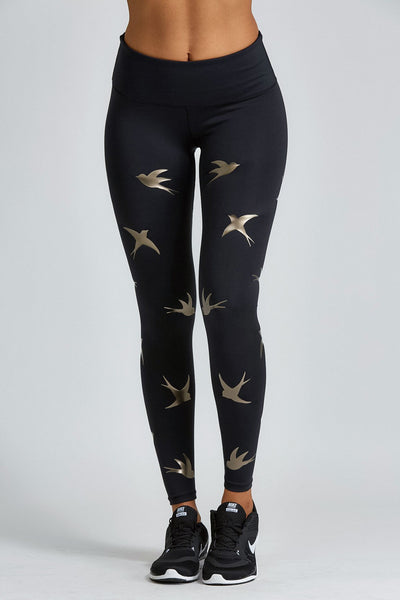 Impact Legging - Gold Bird