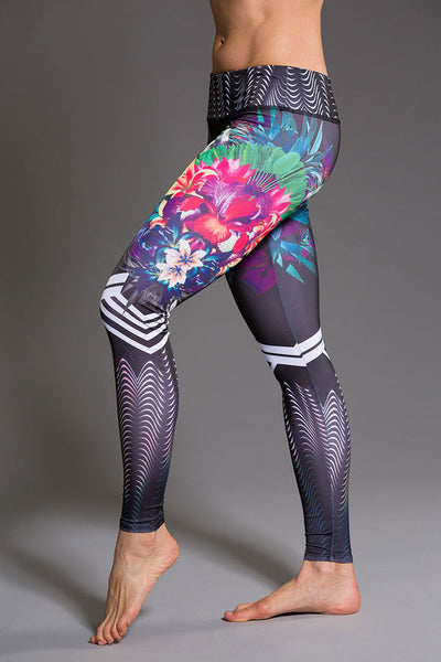 Onzie Graphic Legging - Tiger Lily - Sculptique