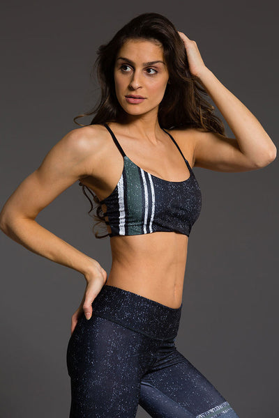 Graphic Vinyasa Bra - Textured Stripe