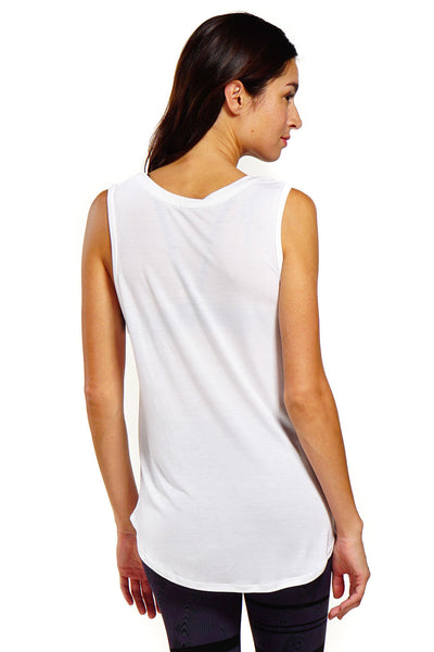 Nux Hazel Sleeveless - White - Sculptique