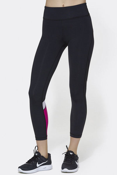 Heroine Tight - Black/White/Hibiscus