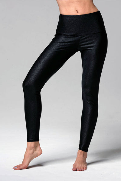 High Rise Legging - Black Sparks