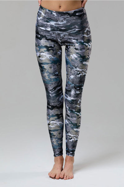 High Rise Legging - Marble Camo