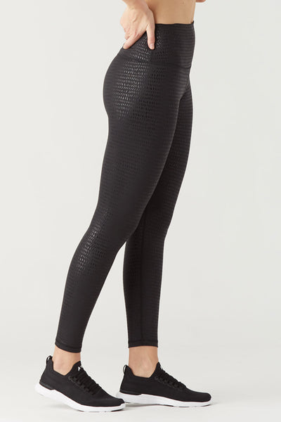 High Power Legging II - Black Gloss Pebble
