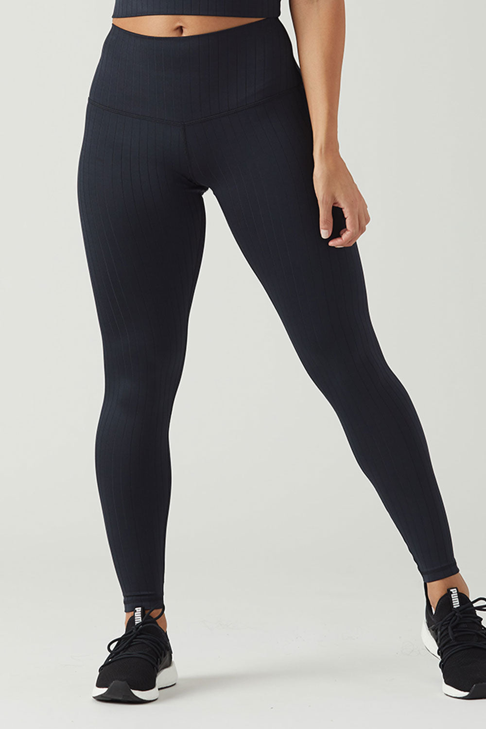 High Power Legging - Black Rib