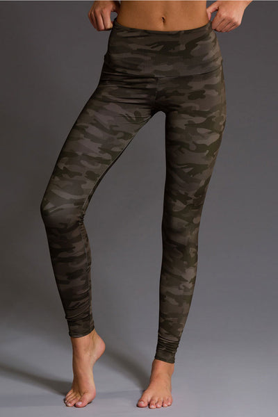 High Rise Legging - Moss Camo
