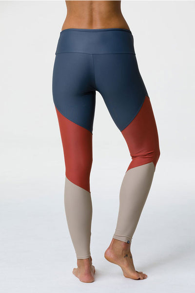 High Rise Track Legging - Copper Combo