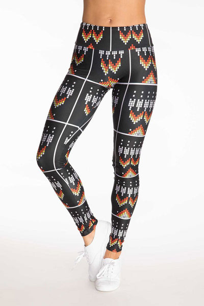 Horizon Black Beads Long Legging