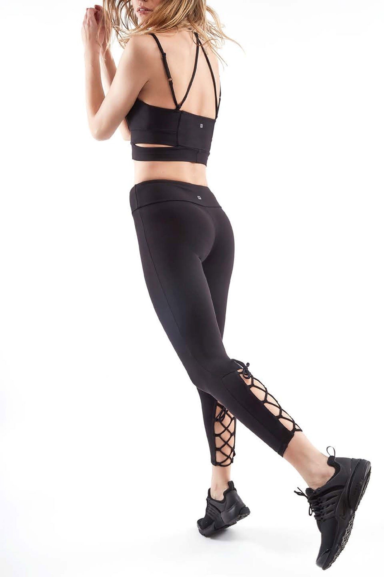 Lanston Jett Lace Back Legging - Sculptique