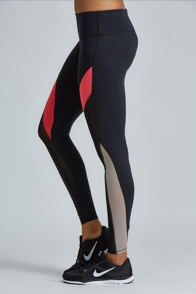 Noli Yoga Jordyn Legging - Red - Sculptique