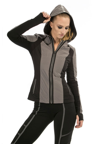 Blanc Noir Just In Case Jacket - Charcoal - Sculptique