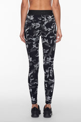 Koral Knockout Cropped Legging  - Camo with Black - Sculptique