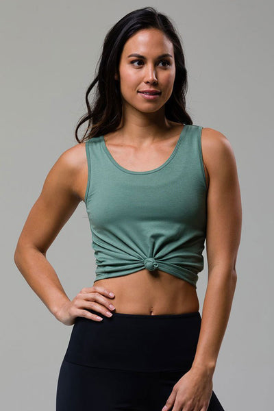 Knot Crop Top - Sage
