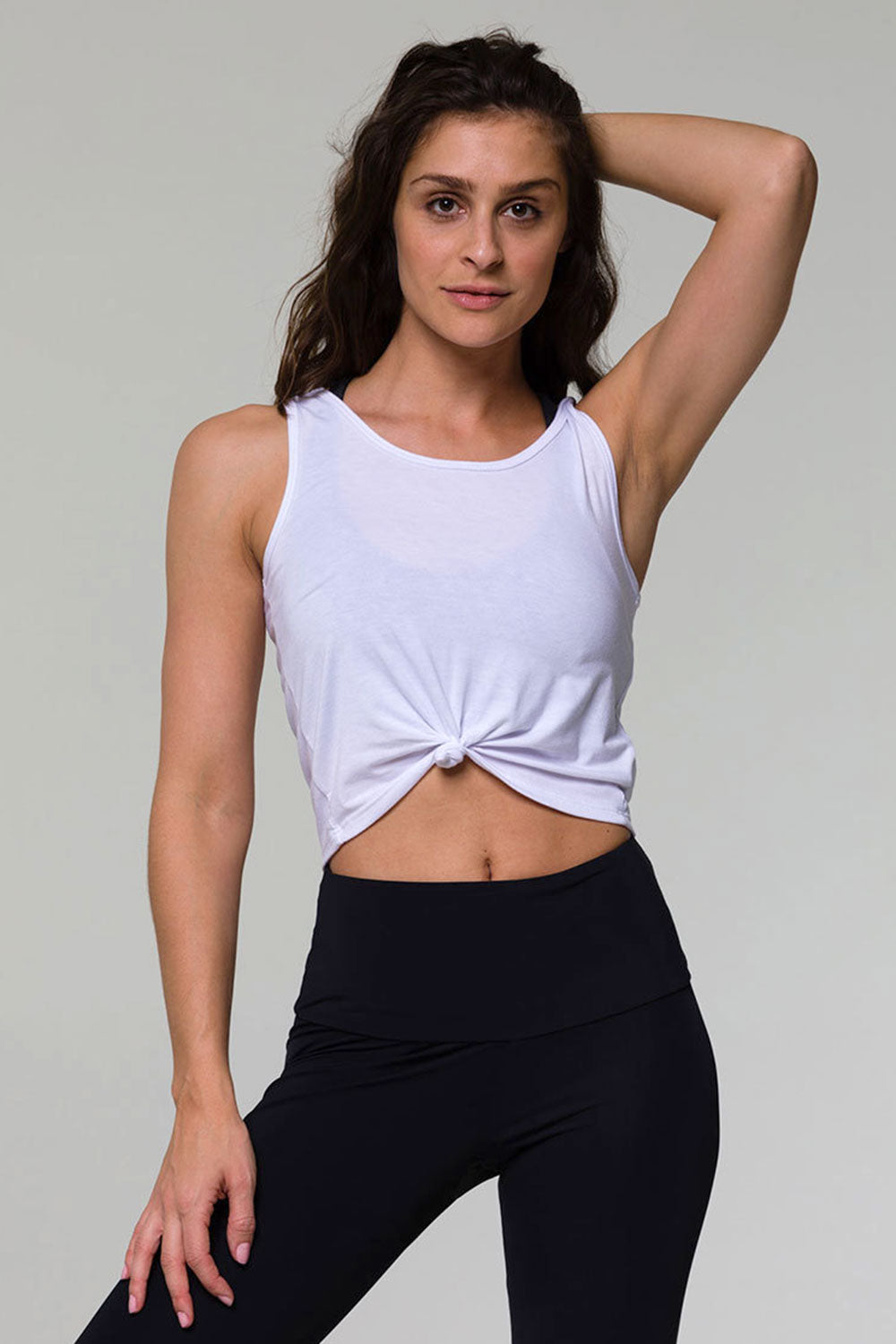 be8ac89f2 Onzie Knot Crop Top in White