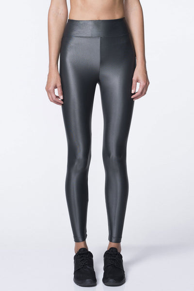 High Waisted Lustrous Legging - Lead