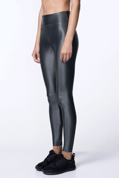 Koral High Waisted Lustrous Legging - Lead - Sculptique