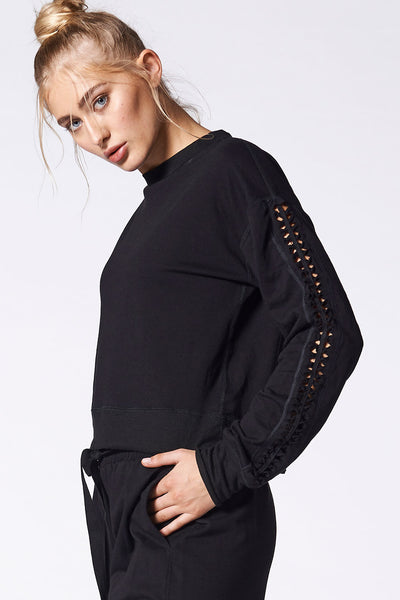 Luxe Lattice Sweatshirt