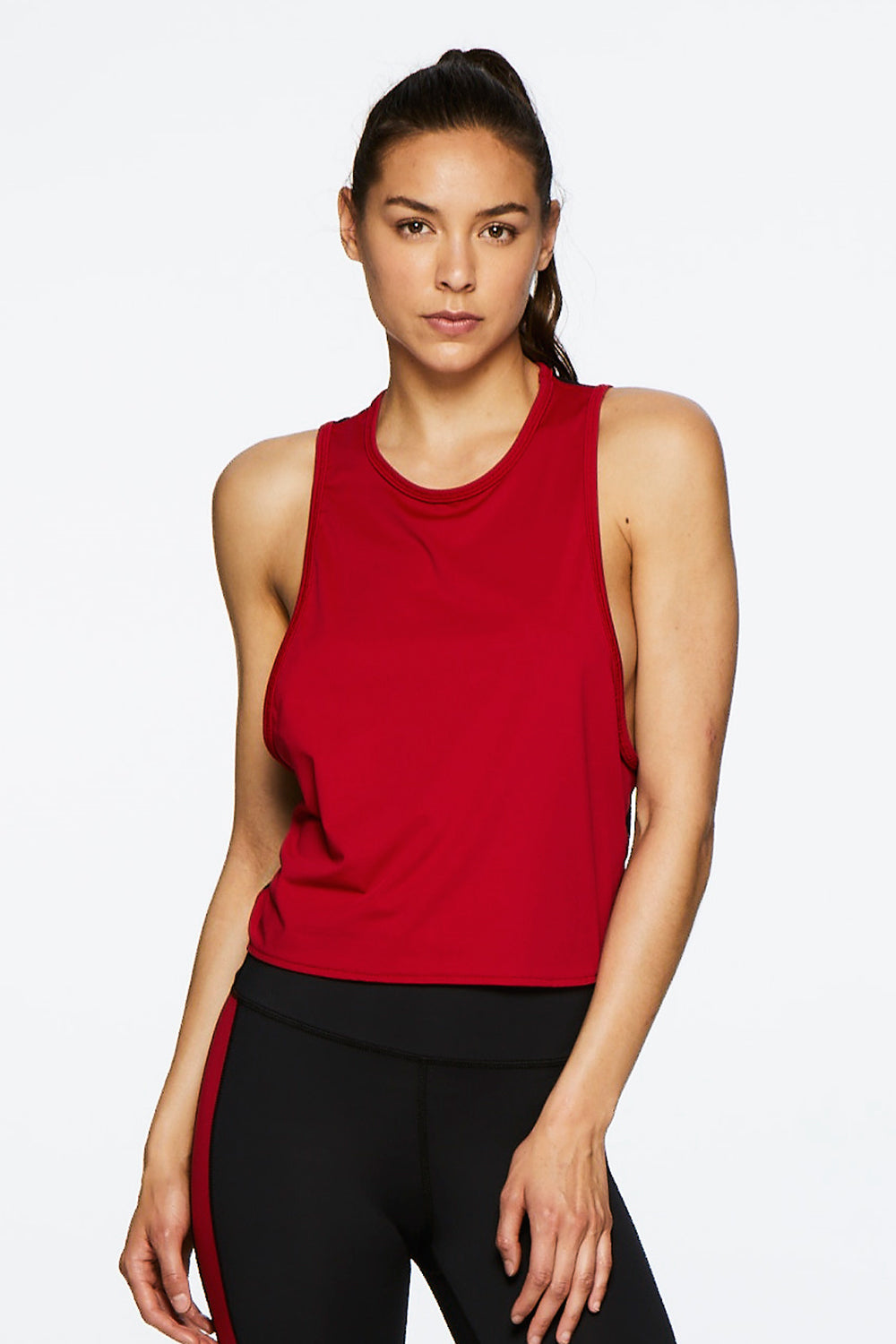 Alala Mesh Tank - Ruby - Sculptique