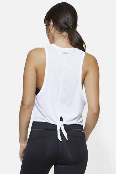 Alala Mesh Tank - White - Sculptique