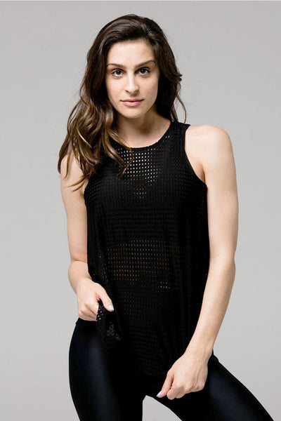 Molly Tank - Black Peep Mesh