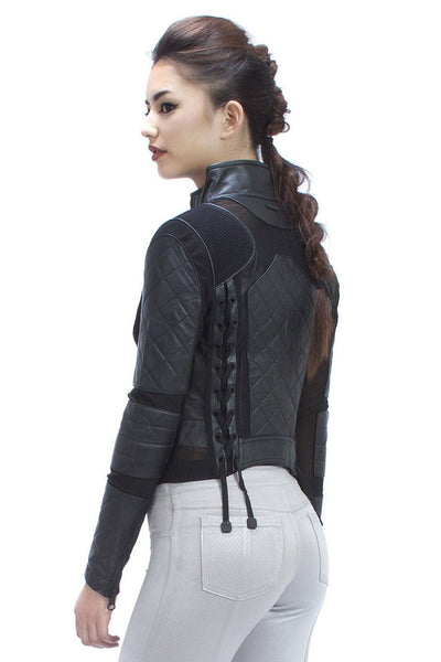 Blanc Noir Moto Jacket - Sculptique