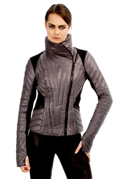 Motion Panel Puffer - Gunmetal