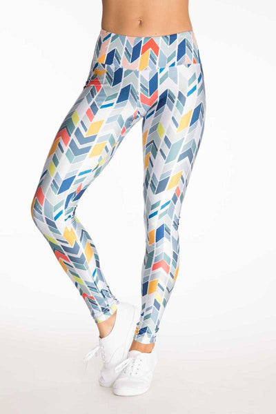 Multi Colored Chevron Capri