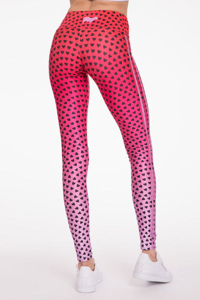 Goldsheep Ombre Hearts Long Legging - Sculptique