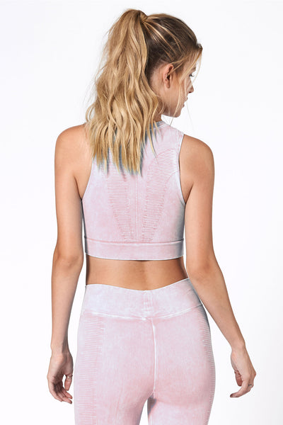 One by One Crop - Sheer Pink