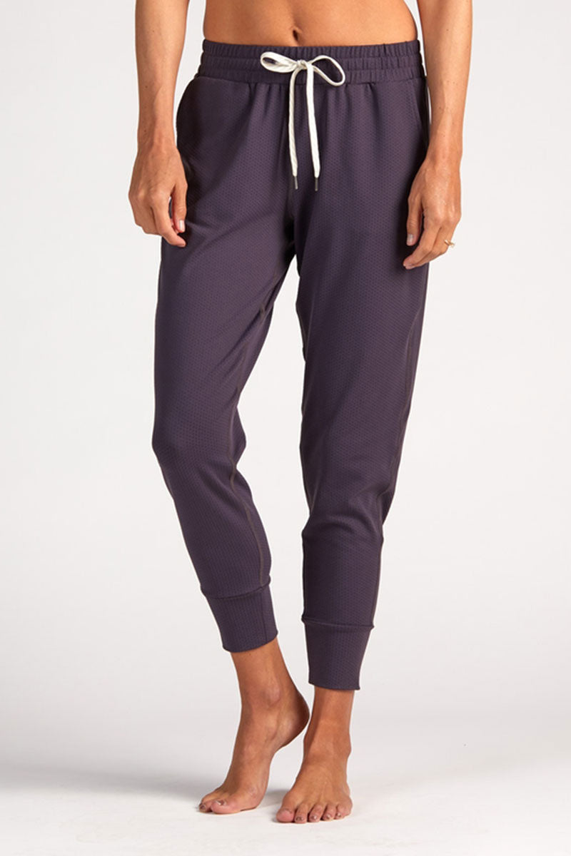 Vuori Performance Mesh Jogger - Eggplant - Sculptique