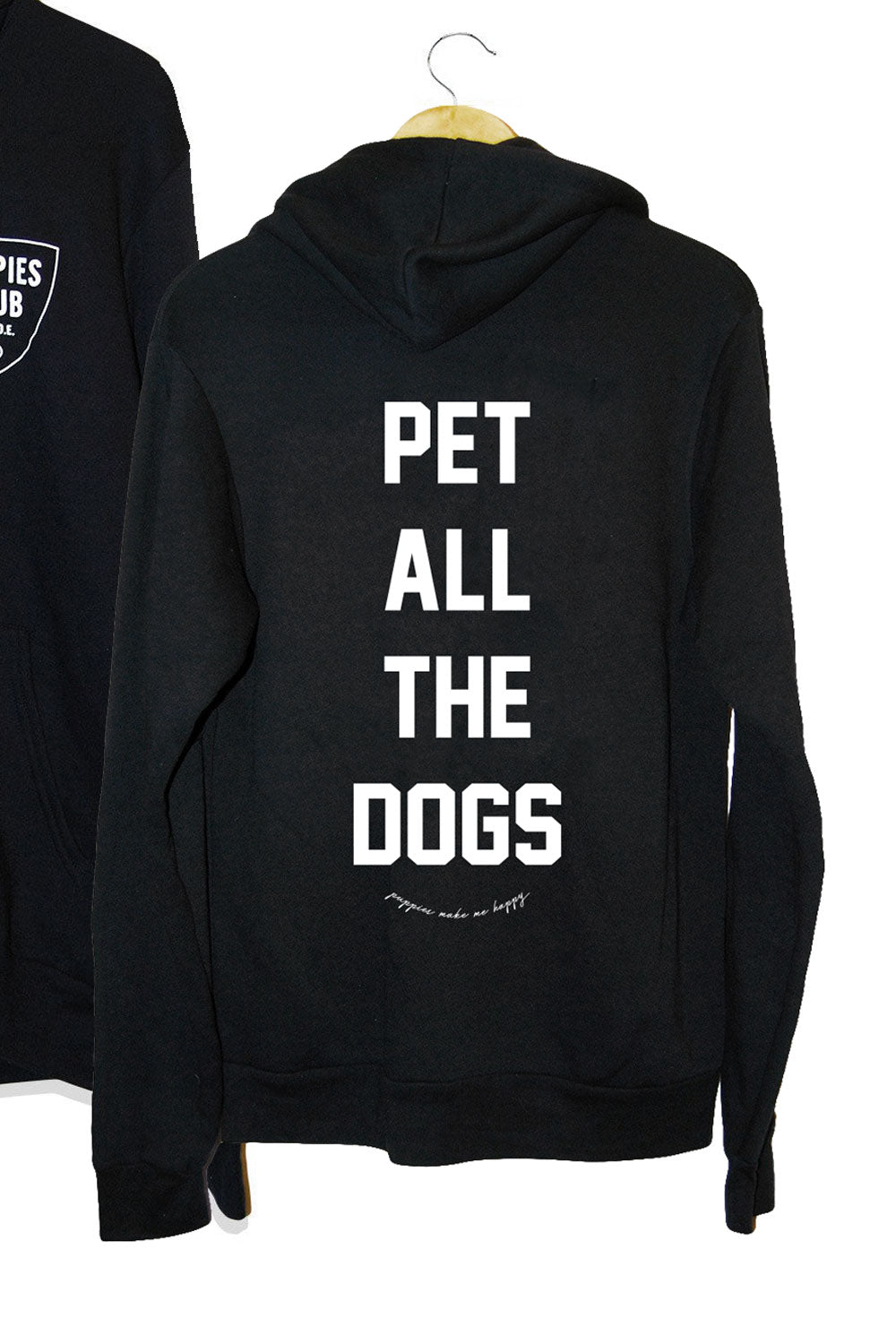 Pet All The Dogs Club Zip Hoodie