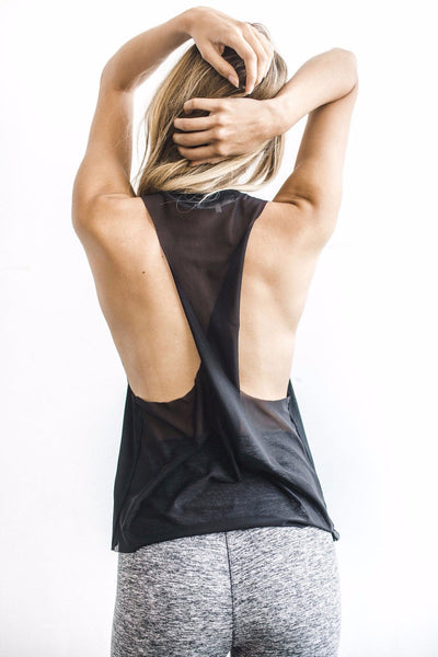 Phases Tank - Black with Mesh