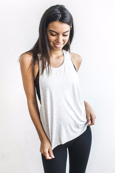 Joah Brown Phases Tank - Pearl Grey - Sculptique