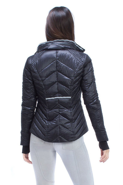 Blanc Noir Puffer With Reflective Trim - Black - Sculptique