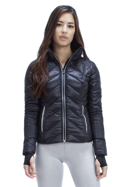 Puffer With Reflective Trim - Black