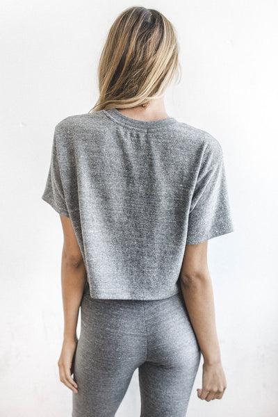Queen Crop Tee - Grey Hacci